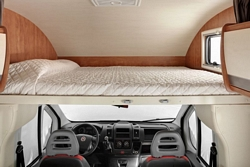 Rent-a-camper overcab double bed