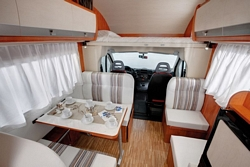 Rent-a-camper front vehicle view